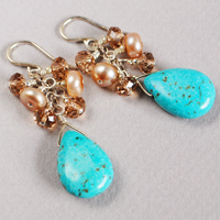 Turquoise Sunrise Gemstone Earrings