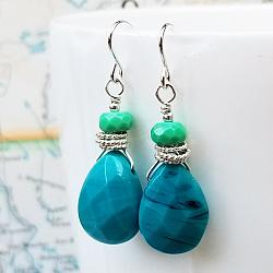 To the Sea Gemstone and Sterling Earrings