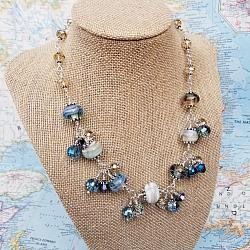 Harvest Lampwork, Crystal and Sterling Statement Necklace