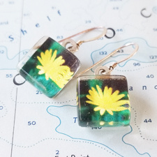 Simply Sweet Photo and Sterling Earrings