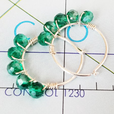 All Wrapped Up in Emerald Crystal and Sterling Hoops